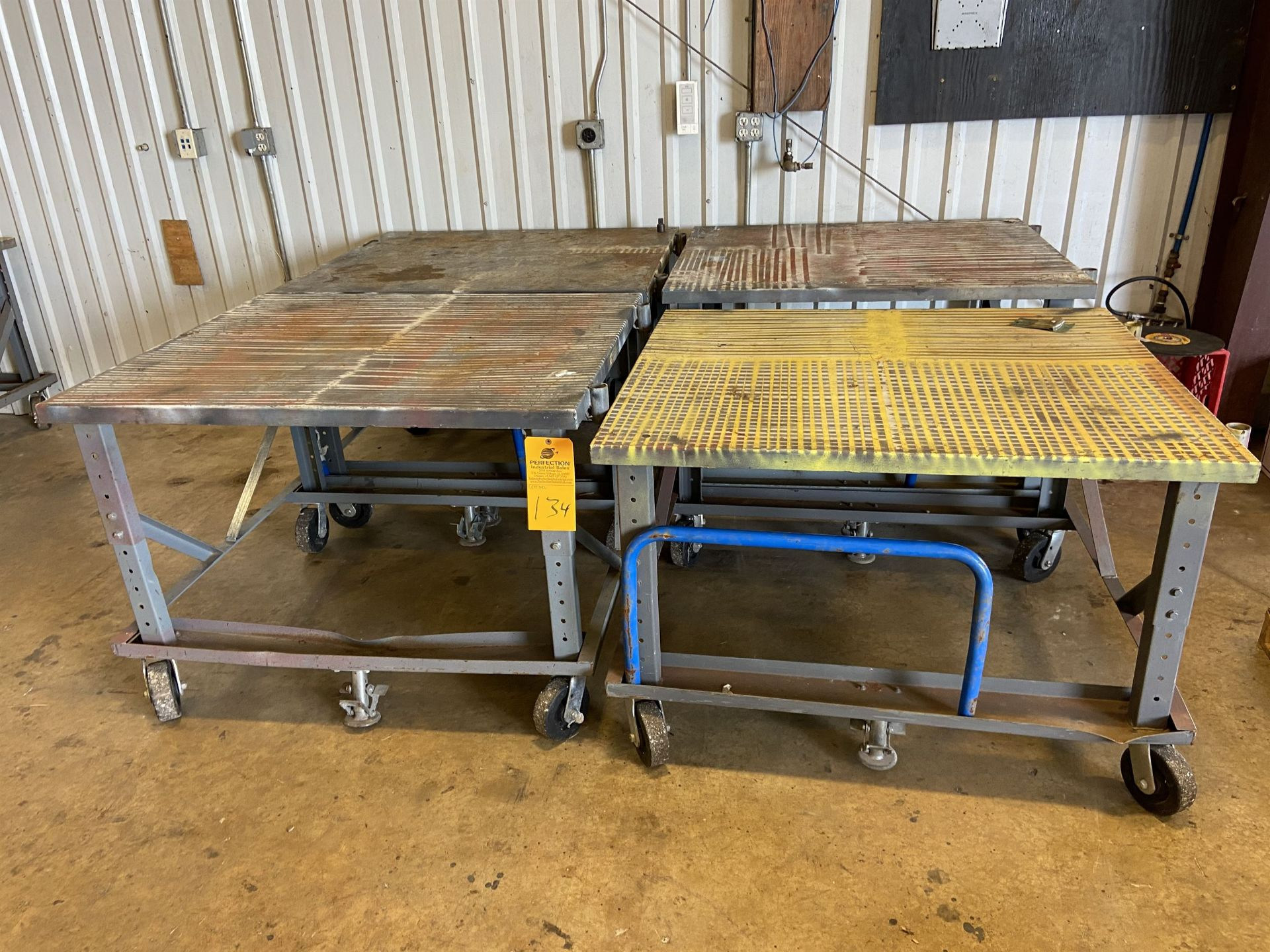 Lot of (4) Roll Around Shop Carts