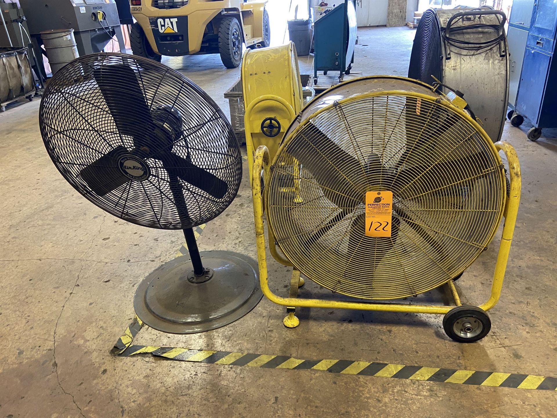 """lot of (1) Dayton 36"""" Fan and a Pedestal Fan"""