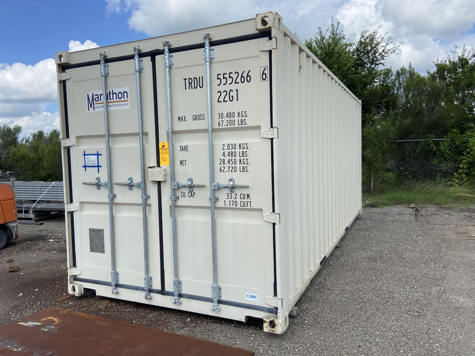 Marathon 20' Portable Paint booth with Fume Fan and Ducting