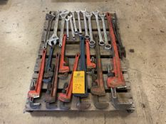 """Lot of wrenches to 2"""" and pipe wrenches to 60"""""""