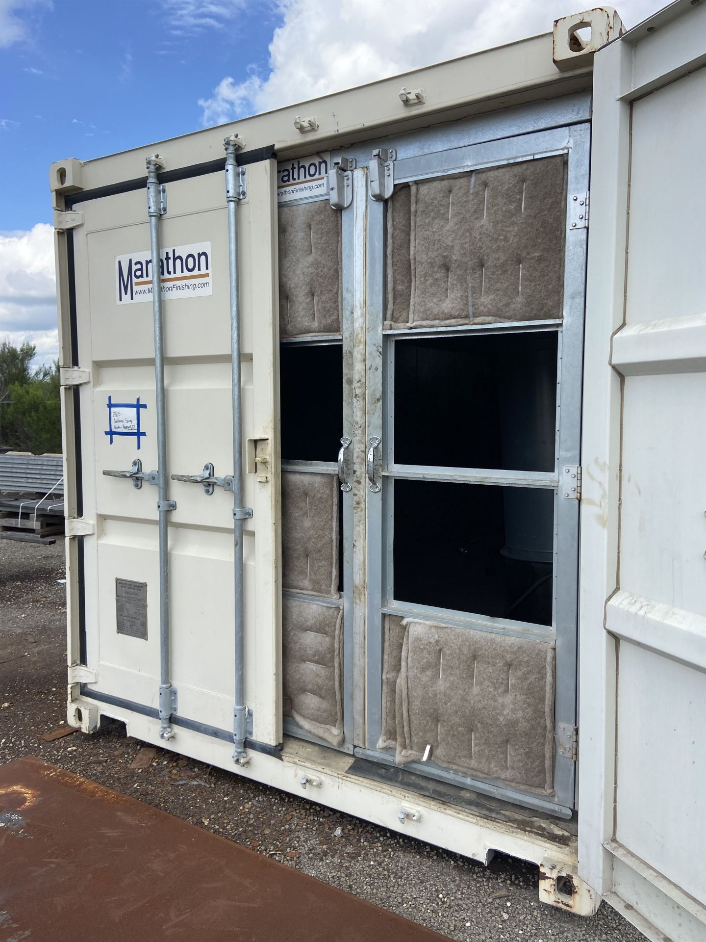 Marathon 20' Portable Paint booth with Fume Fan and Ducting - Image 3 of 5