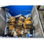 crate of assorted Hoists