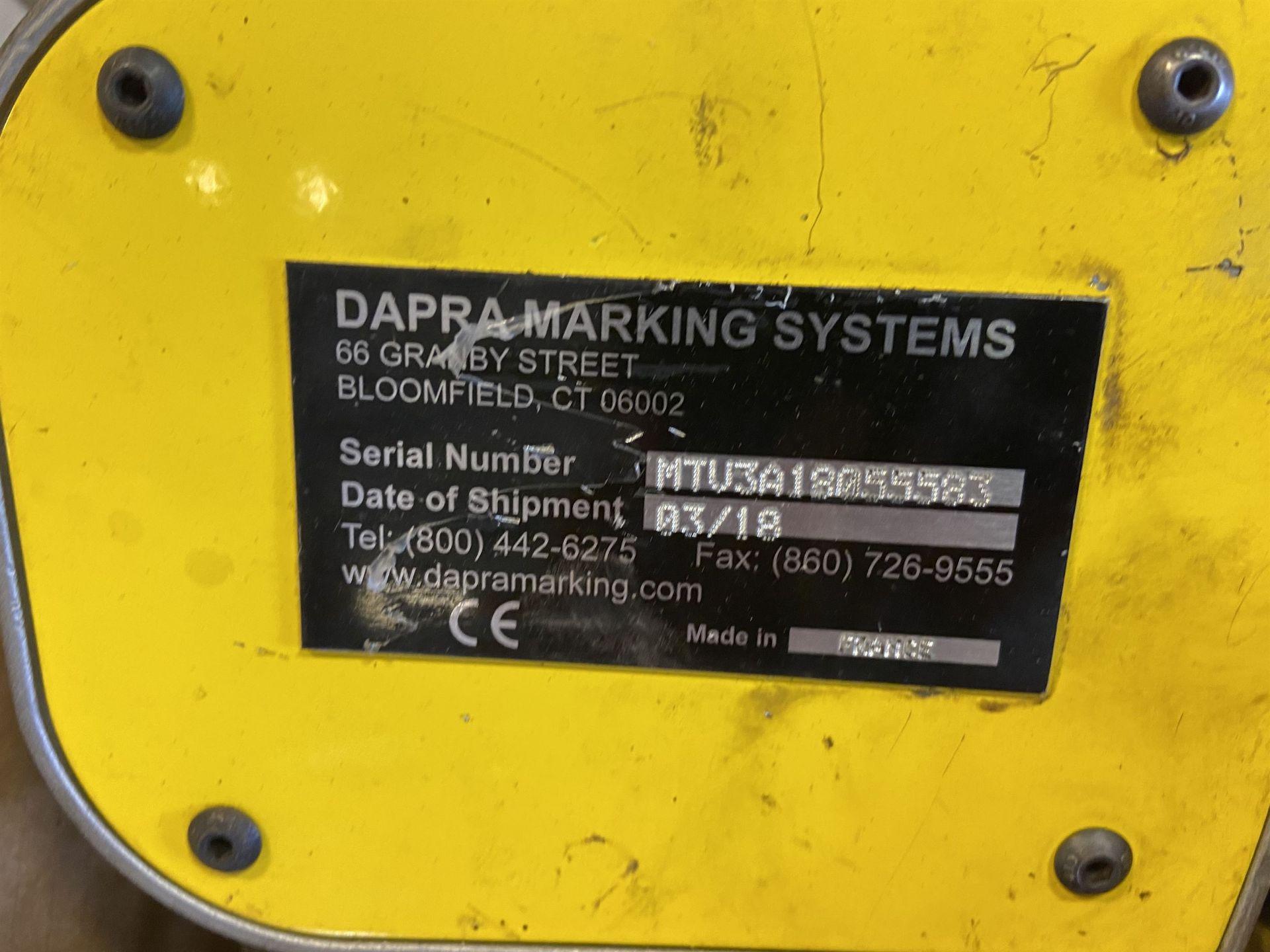 2018 Dapra Technomark Multi 4 Marking Machine with Stand s/n MTV3A18055583 - Image 2 of 2