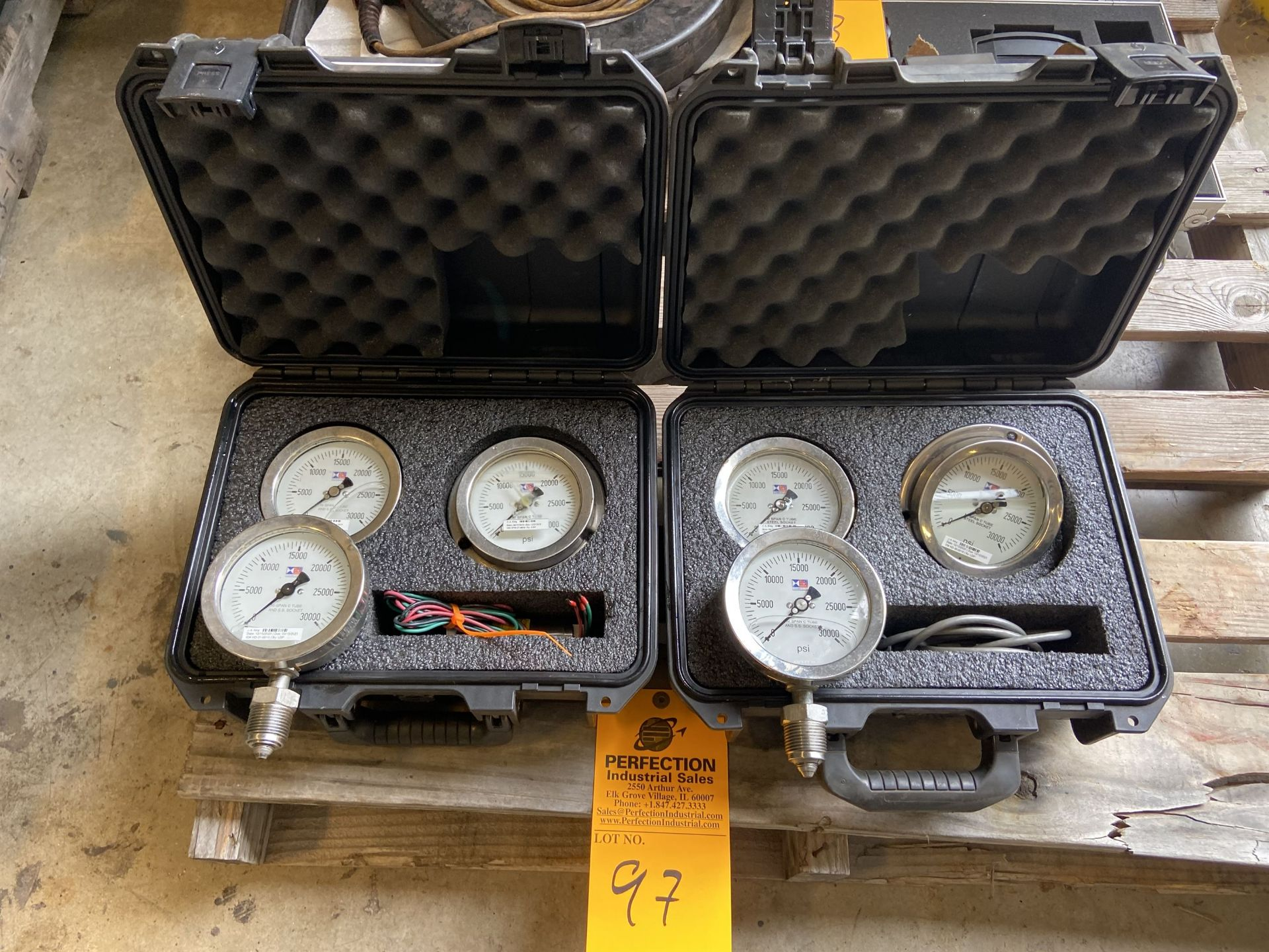 Lot of (2) Cases of High Pressure Gages