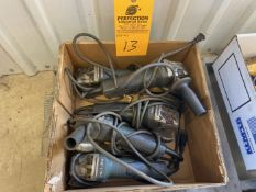 Lot of (5) Metabo Angle Grinders