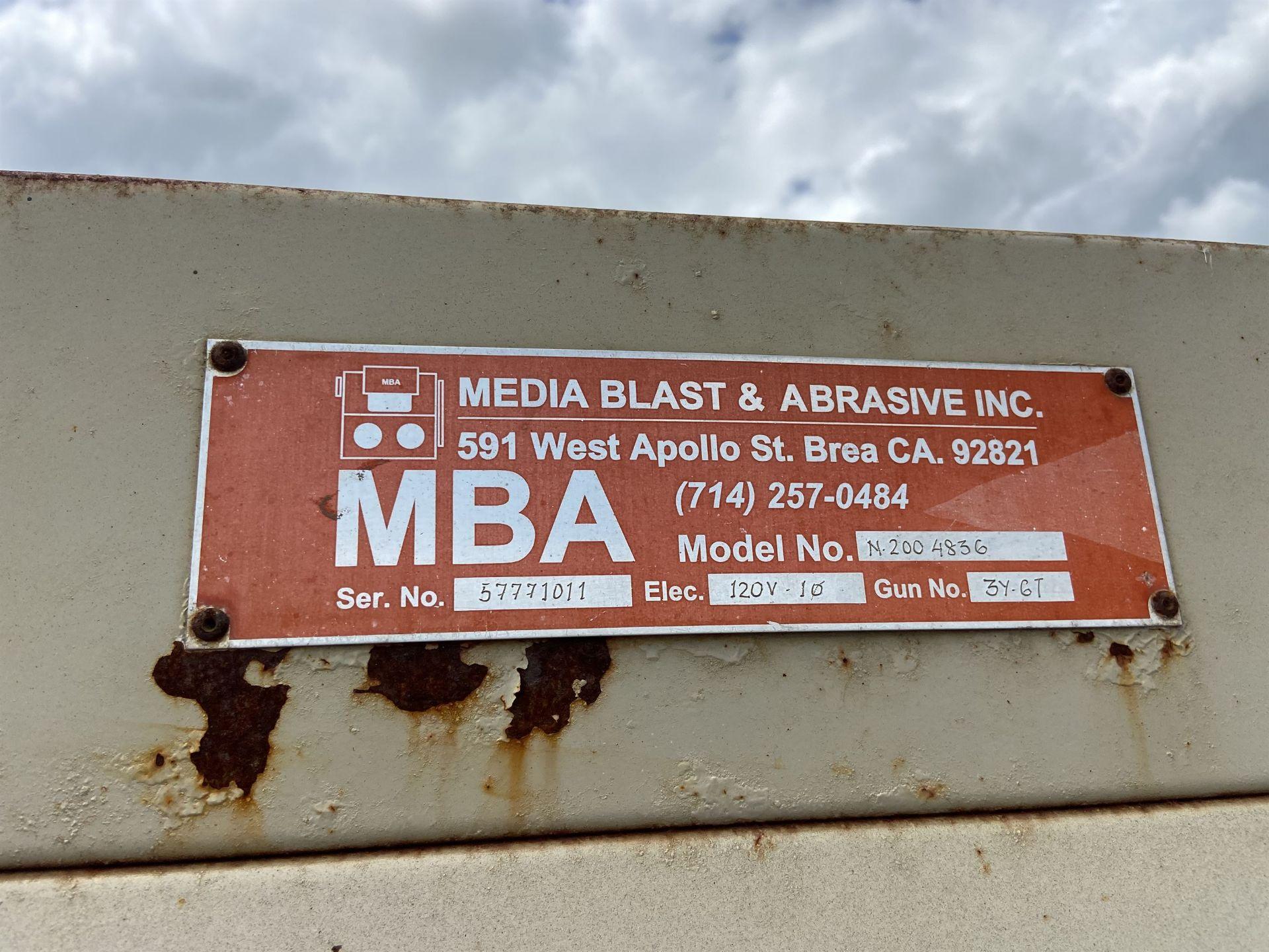 MBA Model N2004836 Blast Cabinet s/n 57771011 - Image 2 of 3