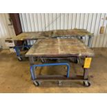 Lot of (3) Roll Around Shop Carts