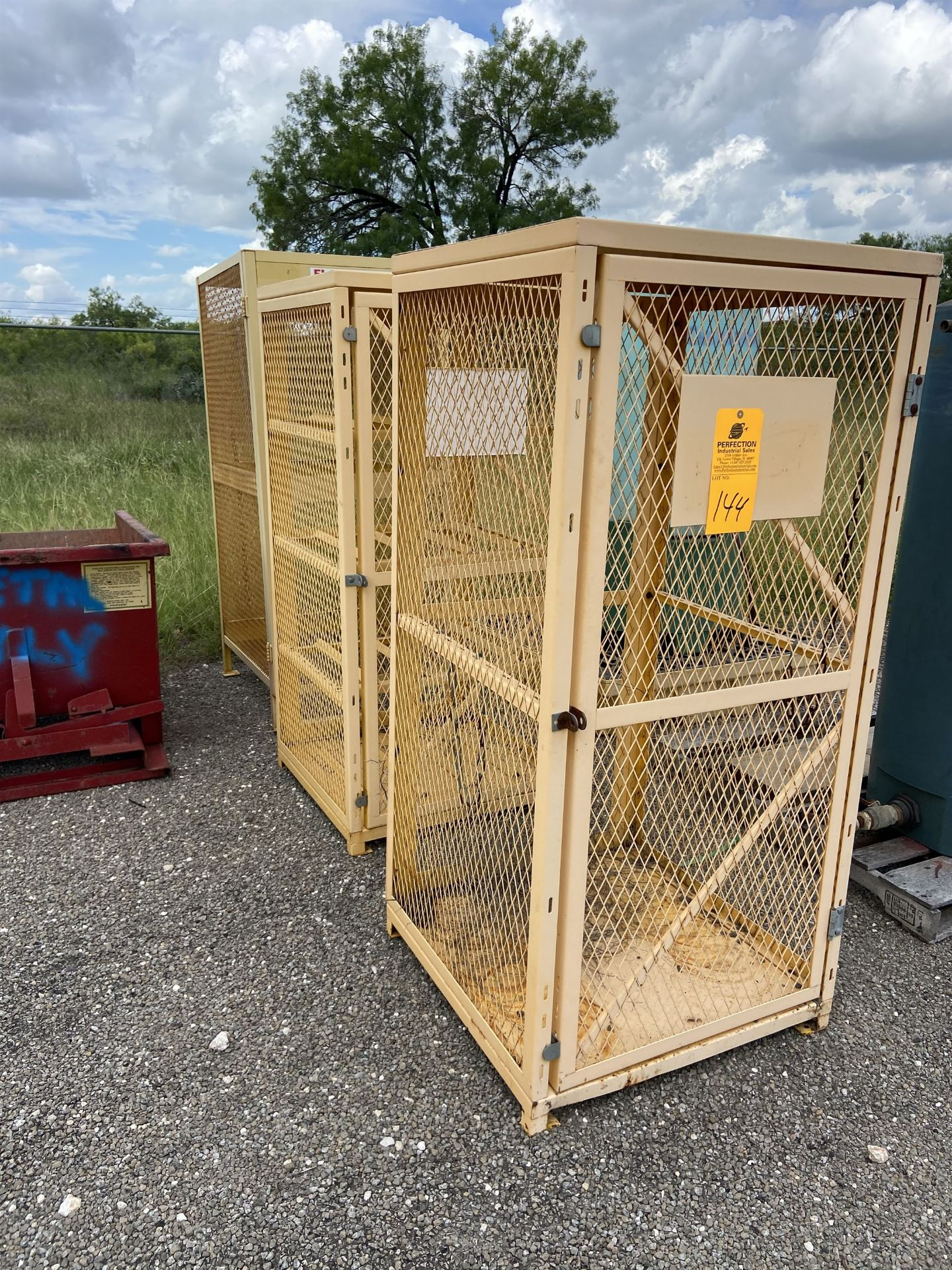 lot of (3) Cage Racks