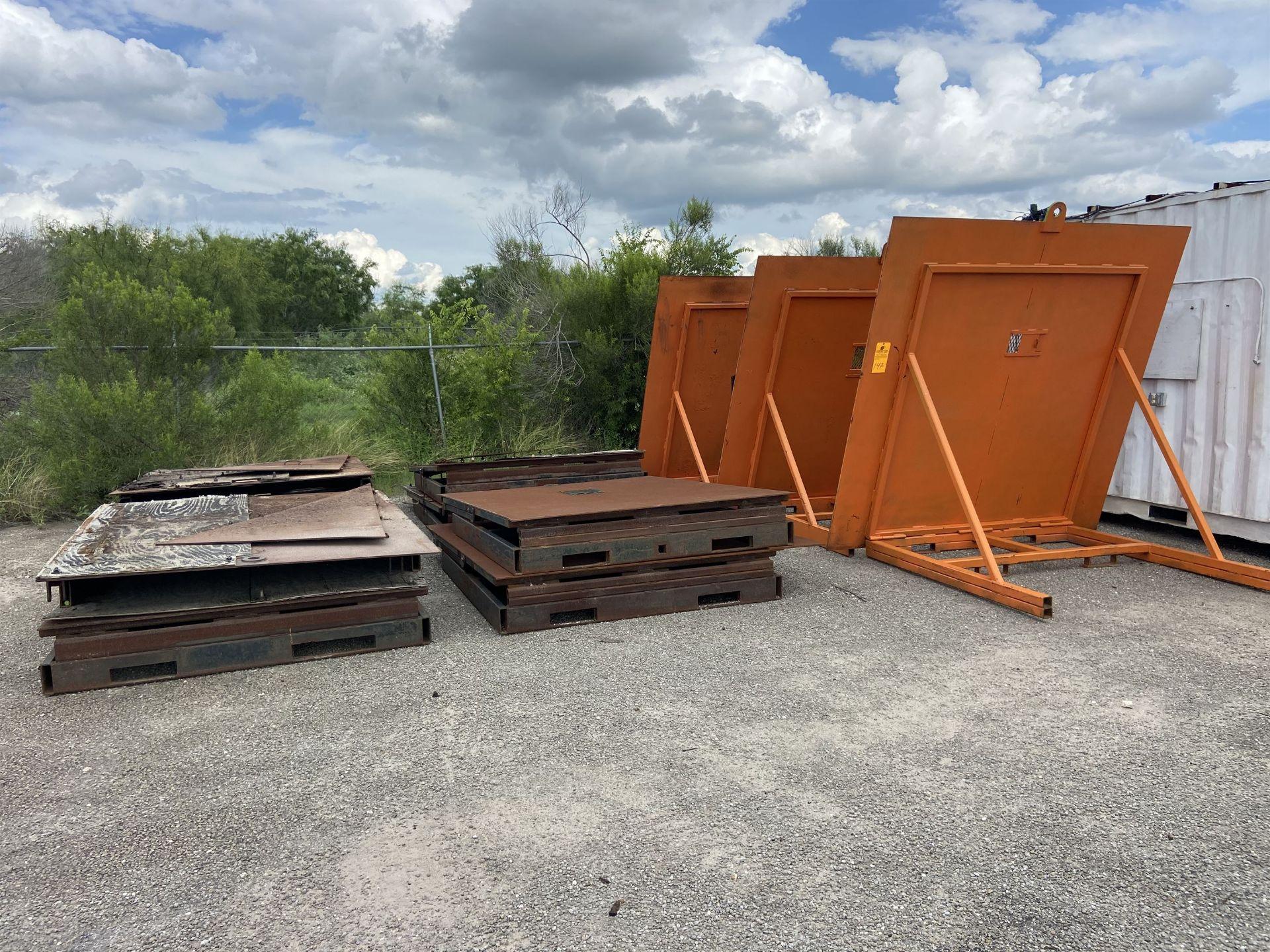 Lot of Portable Blast Shields