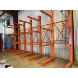 """Cantilever Racks, (7) Uprights, 48"""" Arms, 144"""" High"""