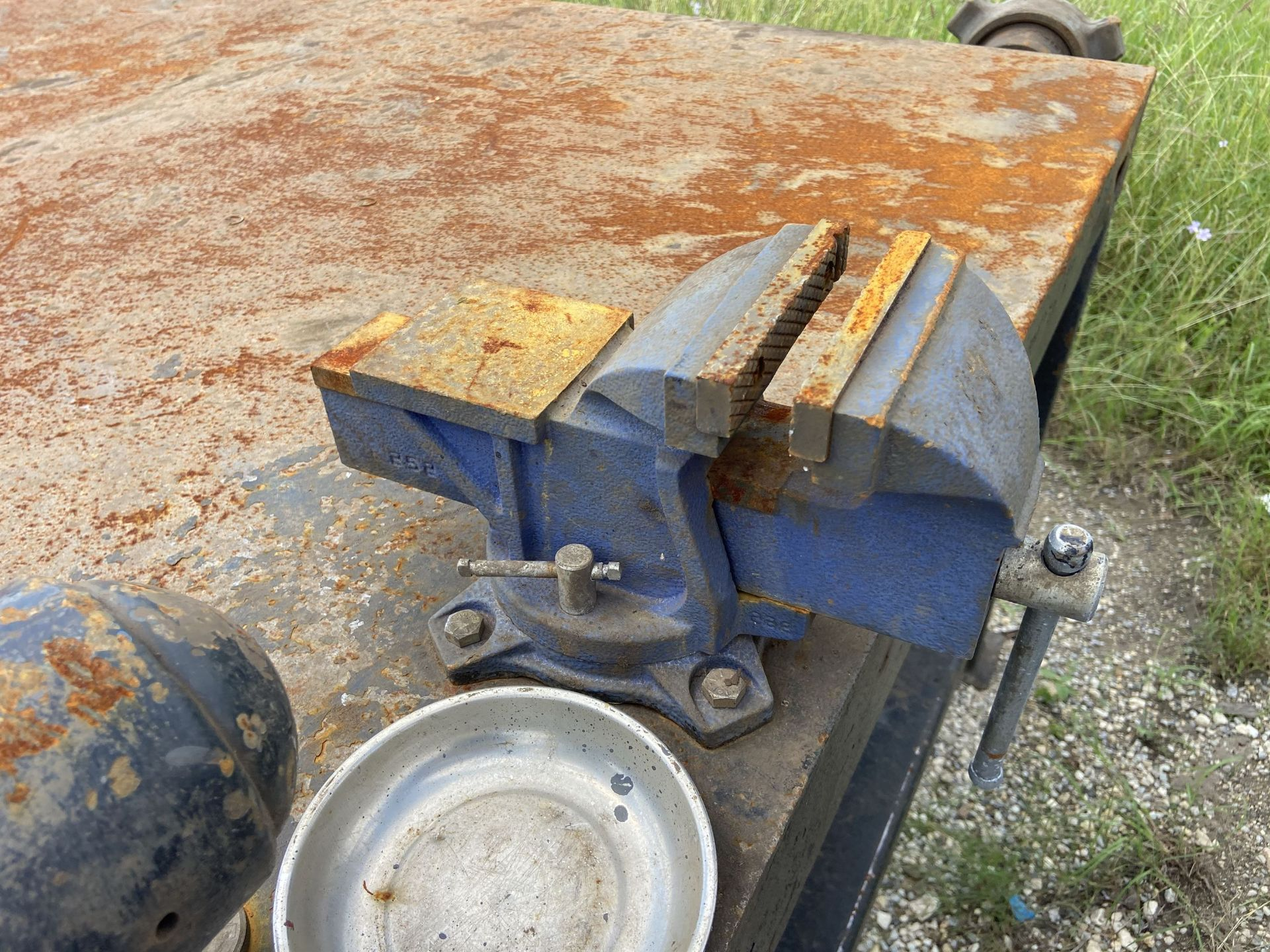 """48"""" x 96"""" Welding Table with (3) Wilton Vises - Image 3 of 4"""