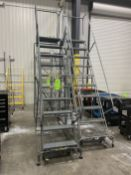 Lot of (2) 10 Step Portable Stairs