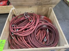 Crate of New and Used Air Hoses
