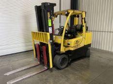 """2012 HYSTER S120FTPRS LP 12,000 Lb Forklift, s/n G004V06367K w/ 185"""" 3 Stage Mast, 48"""" Forks, Side"""