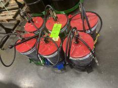 Lot of (6) Bucket Grease Guns