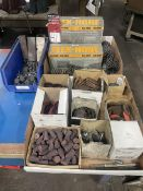 Lot of Assorted Abrasives, Grinding Stones and Flex Hones