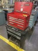 Proto tool Chest on Waterloo Rolling Tool Cart