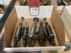 Lot of (5) Assorted Air Grinders