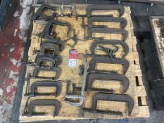 Lot of Assorted C-Clamps and Bar Clamps