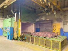 """J.L BECKER Box Furnace, s/n J2178-98, Natural Gas, 2,5M BTU/Hr., 80 PSI, 96"""" x 44"""" x 60"""" Load"""