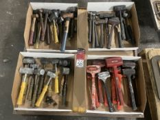 Lot of Rubber Mallets, Brass Hammers and Ball Peen Hammers