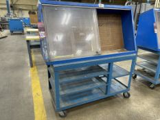 STANLEY VIDMAR Peg Board Cabinet on Cart