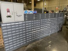 Lot of Hardware Storage Units w/ Contents Including Assorted Fittings, Washers and Fasteners