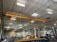 ITP 3-Ton Top-Running Bridge Crane System w/ Harrington 3-Ton Electric Hoist w/ Remote Control,
