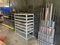 Lot Comprising (2) Stock Racks w/ Shelving Unit w/ Contents Including Misc. Stock