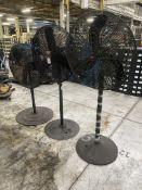 Lot of (3) DAYTON Pedestal Fans