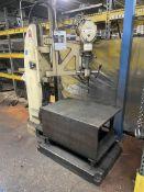 """FOOT-BURT/Hammond Cleveland Drill Press, s/n 2380-55, 95-760 RPM, 28"""" x 41"""" x 20"""" Table, (Asset #"""