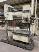 """AMERICAN 4' x 11"""" Radial Arm Drill, s/n 77780, 30-1500 RPM, 34"""" x 40"""" Table, (Asset # 1937)"""