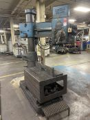 """AMERICAN Hole Wizard 3' x 9"""" Radial Arm Drill, 70-2100 RPM, 30"""" x 42"""" x 20"""" Table, (Asset # 1175)"""