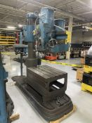 """AMERICAN Hole Wizard 4' x 11"""" Radial Arm Drill, 50-1500 RPM, 30"""" x 42"""" x 20"""" Table, (Asset # 2105)"""