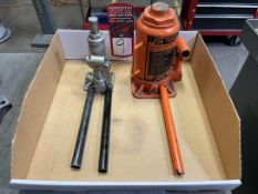Lot Consisting of (1) Central Hydraulics 66482 20 Ton Hydraulic Bottle Jack, (1) Pro-Lift B-002NC