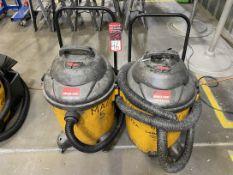 Lot of (2) Shop-Vac Contractor Vacuums