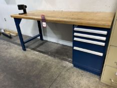 """Rousseau 30"""" x 72"""" Work Bench w/ HSK100 Tool Tightening Fixture (Located at 4200 West Harry St.,"""