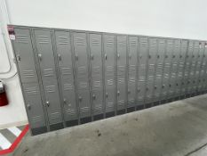 Lot of (5) Banks of ULINE Double Tier Lockers, (2) Single Banks of ULINE Double Tier Lockers