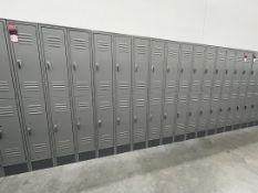 Lot of (5) Banks of ULINE Double Tier Lockers