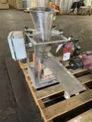 2009 ARBO Vibratory Tray Feeder w/ AF14-CS-110-15 Drive and SS Hopper, s/n V2064, w/ Load Cell
