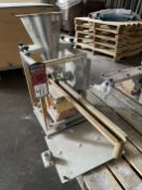 2009 ARBO Vibratory Tray Feeder w/ AF14-CS-110-15 Drive and SS Hopper, s/n V2059, w/ Load Cell