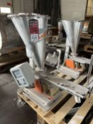 2008 ARBO Vibratory Tray Feeder w/ AF14-CS-110-15 Drive and SS Hopper, s/n V1859