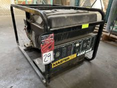MASTER MGH4000CI Portable Gas Generator, 4000W, 3600 RPM, 120/240V, HONDA GX240 8.0 Motor