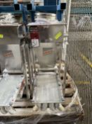 2008 ARBO Vibratory Tray Feeder w/ AF15-CS-110-14 Drive and SS Hopper, s/n V1971, w/ Load Cell
