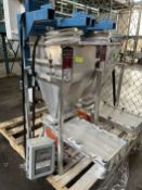 2009 ARBO Vibratory Tray Feeder w/ AF15-CS-110-14 Drive and SS Hopper, s/n V2053, w/ Load Cell