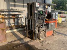 TOYOTA 5FBC25 Electric Forklift, s/n 11854, 5,000 Lb Capacity, Quad Mast (New Kensington, PA)