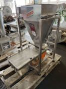 2014 ARBO Vibratory Tray Feeder w/ AF15-CS-110-15 Drive and SS Hopper, s/n V2748, w/ Load Cell