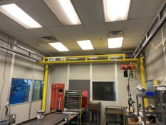 Spanco 1/2 Ton Bridge Crane, approx 10.5' high x 15' x 28' with Hoist. Crane # 019 (Attention: