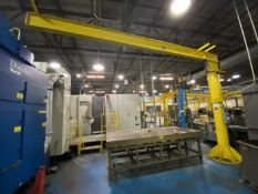 1/2 Ton Floor Mounted Jib Crane, Approx, 11.5' high x 18' reach. Crane # 0037 (Attention: Will be