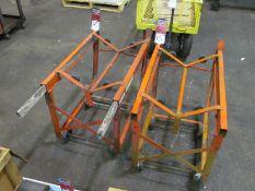 (2) 55 Gallon Drum Racks/Carts